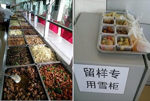 学校食堂菜品展示