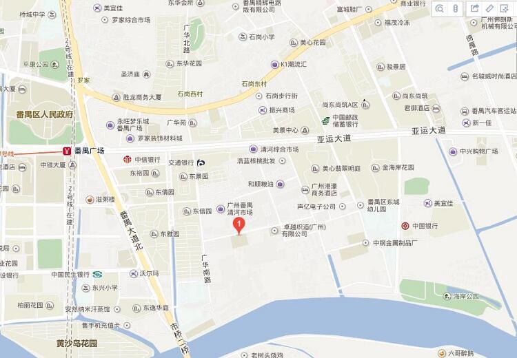广州八月八公司地图路线