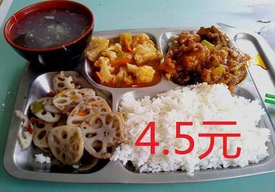 4.5元食堂饭菜