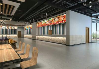 高科技公司食堂