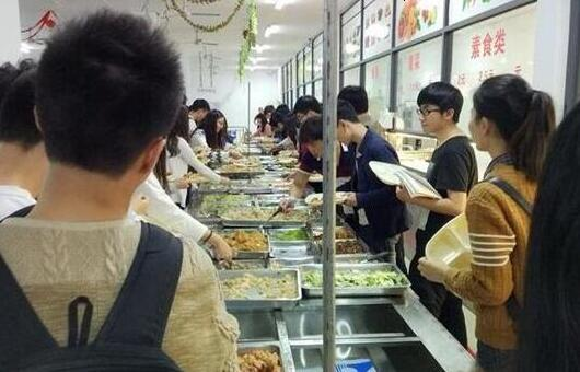 大学食堂图片
