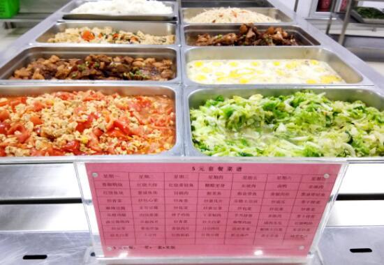 大学食堂5元套餐