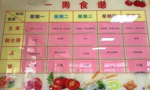 小工厂食堂菜谱