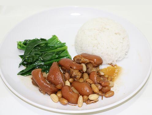 食堂卤味系列:花生猪手饭