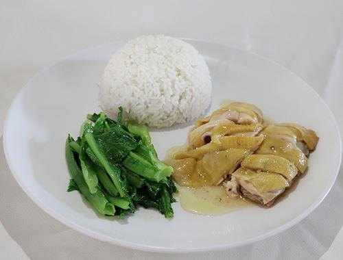食堂卤味系列:白切鸡饭套餐