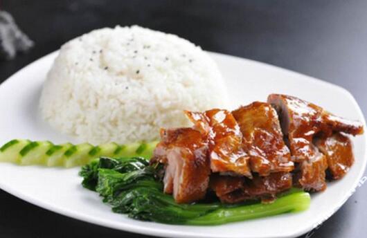 食堂卤味系列:烧鸭饭套餐
