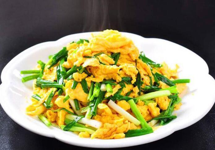 食堂小炒系列:韭黄炒蛋